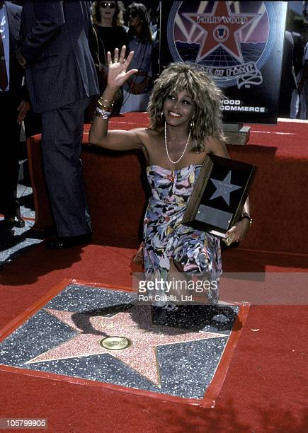 Tina Turner during Tina Turner Recieves A Star on the Walk of Fame - August 27, 1986 at Hollywood Walk of Fame in Hollywood, California, United...