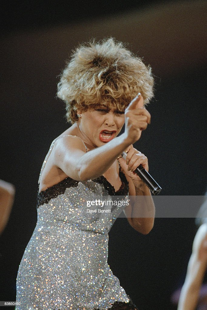 Tina Turner in concert at Le Palais Omnisports de Bercy in Paris, 3rd May 1996.