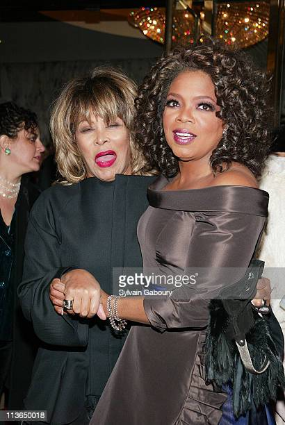 Tina Turner Oprah Winfrey during The Color Purple Opening on Broadway at Broadway Theater in New York New York United States