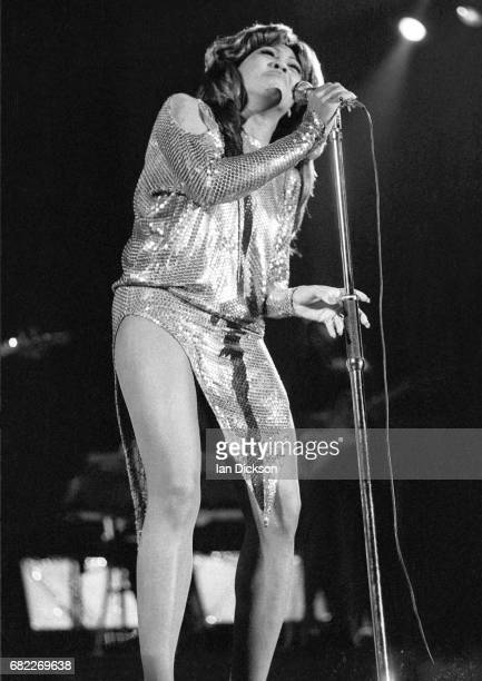 Tina Turner performing on stage at Hammersmith Odeon London 24 November 1973