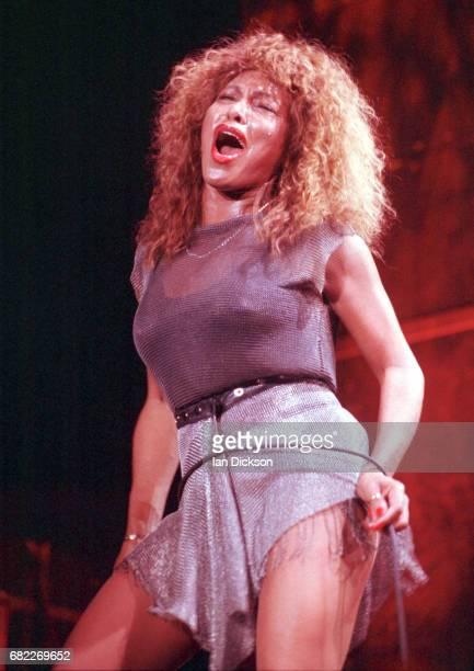 Tina Turner performing on stage at NEC Arena, Birmingham United Kingdom, 24 October 1990.