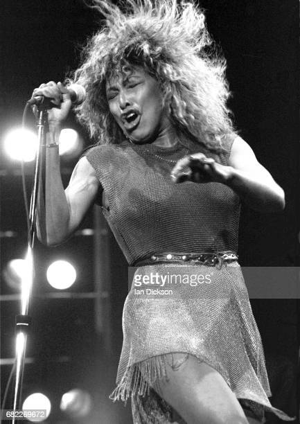 Tina Turner performing on stage at NEC Arena Birmingham United Kingdom 24 October 1990