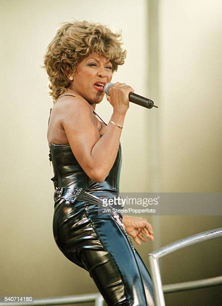 Tina Turner performing on stage at Wembley Stadium in London on the 15th July 2000