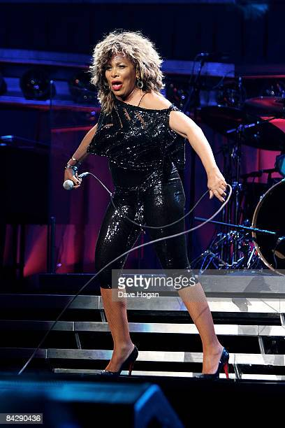 Tina Turner performs at the first night of her European tour at the Cologne Arena on January 14 2009 in Cologne Germany