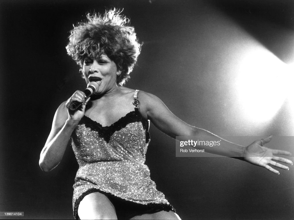 Tina Turner performs on stage at Ahoy, Rotterdam, Netherlands, 16th May 1996.