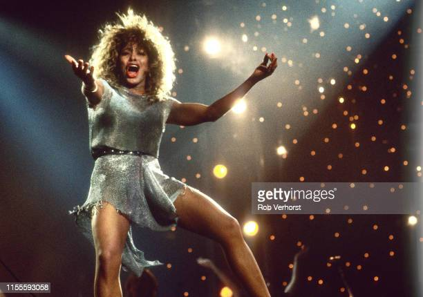 Tina Turner performs on stage at Ahoy Rotterdam Netherlands 4th November 1990