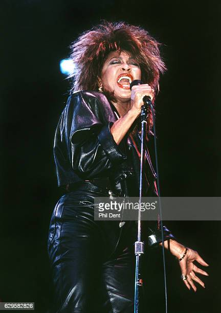 Tina Turner performs on stage London 1985