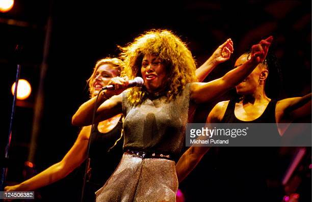 Tina Turner performs on stage London July 1990