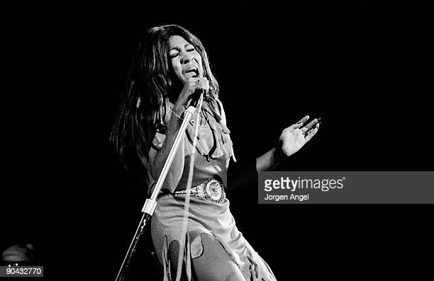Tina Turner performs on stage with Ike Tina Turner in 1972 in Copenhagen Denmark