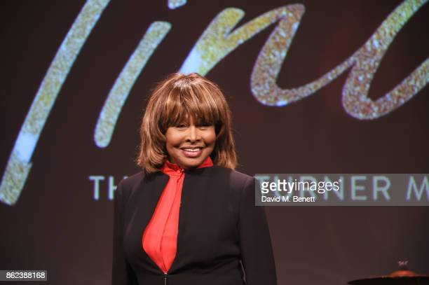 Tina Turner poses at a photocall for Tina The Tina Turner Musical at The Hospital Club on October 17 2017 in London England