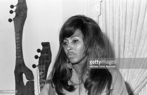 Tina Turner recording at her studio Bolic Sound with The Ikettes on March 5 1972 in Los Angeles Califonia