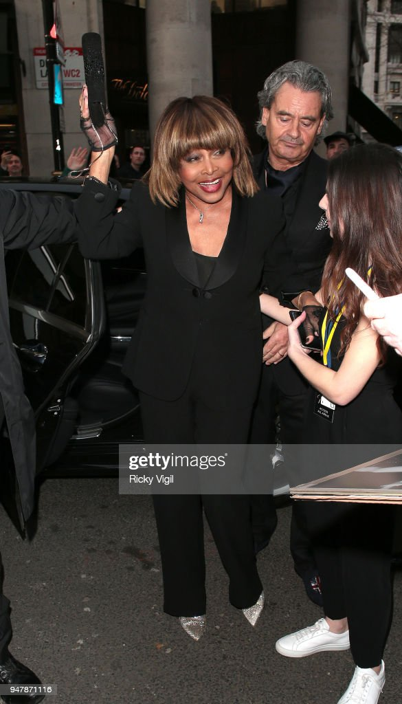 Tina Turner seen at Tina - press night at Aldwych Theatre on April 17, 2018 in London, England.