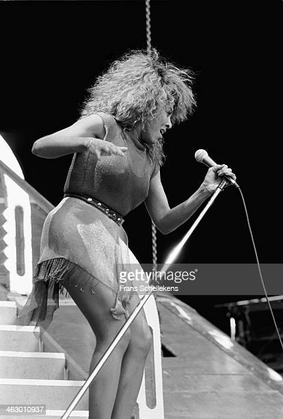 Tina Turner, vocal, performs at the Feijenoord Stadium in Rotterdam, the Netherlands on 23th June 1990.