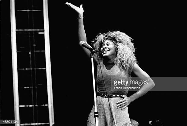 Tina Turner vocal performs at the Feijenoord Stadium in Rotterdam the Netherlands on 23th June 1990