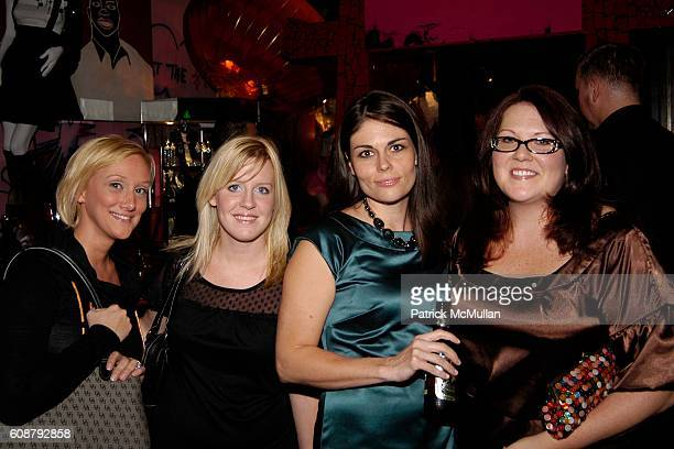 Tina Vanderwaal Carla Kennedy Amy Carson and Charlotte Tritch attend Patricia Field for Payless PreSale Party at Patricia Field on October 23 2007 in...