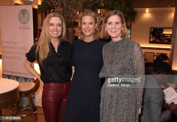 Tina Weaver, Amanda Staveley and Wellbeing Of Women CEO Janet Lindsay attend a lunch hosted by Amanda Staveley for 'Wellbeing Of Women', Britain's...