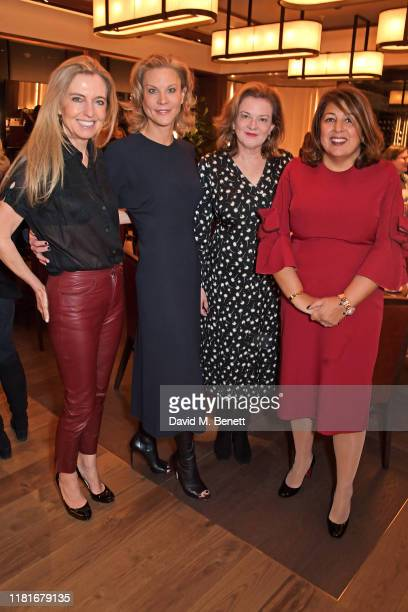 Tina Weaver, Amanda Staveley, guest and Pavita Cooper attend a lunch hosted by Amanda Staveley for 'Wellbeing Of Women', Britain's foremost female...