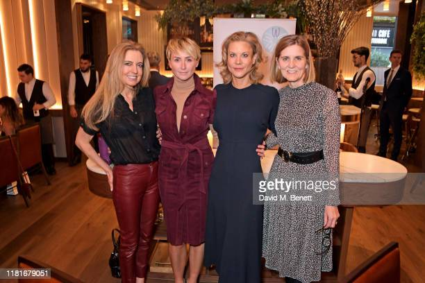 Tina Weaver, Jo Manoukian, Amanda Staveley and Wellbeing Of Women CEO Janet Lindsay attend a lunch hosted by Amanda Staveley for 'Wellbeing Of...