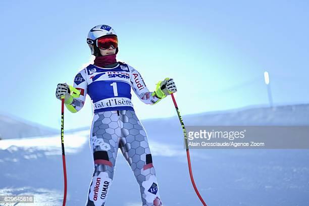Tina Weirather of Liechtenstein at the start during the Audi FIS Alpine Ski World Cup Women's Downhill Training on December 14 2016 in Vald'Isere...