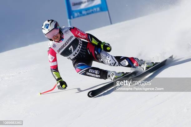 Tina Weirather of Liechtenstein competes during the Audi FIS Alpine Ski World Cup Women's Super G on December 8 2018 in St Moritz Switzerland