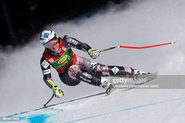 Tina Weirather of Liechtenstein competes during the Audi FIS Alpine Ski World Cup Women's Super G on December 3 2017 in Lake Louise Canada