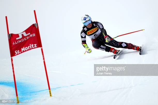 Tina Weirather of Liechtenstein competes during the Women's Super G during the FIS Alpine World Ski Championships on February 7 2017 in St Moritz...