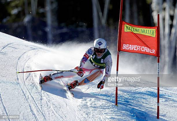 Tina Weirather of Liechtenstein in action during day 2 of training on Raptor for the FIS Beaver Creek Ladies Downhill World Cup on November 27 2013...