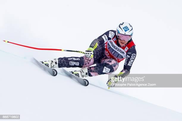 Tina Weirather of Liechtenstein in action during the Audi FIS Alpine Ski World Cup Women's Super G on December 9 2017 in St Moritz Switzerland