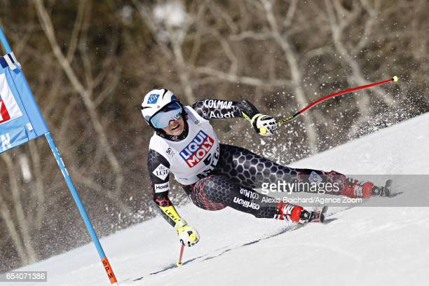 Tina Weirather of Liechtenstein takes 1st place wins the globe in the overall standings during the Audi FIS Alpine Ski World Cup Finals Women's and...