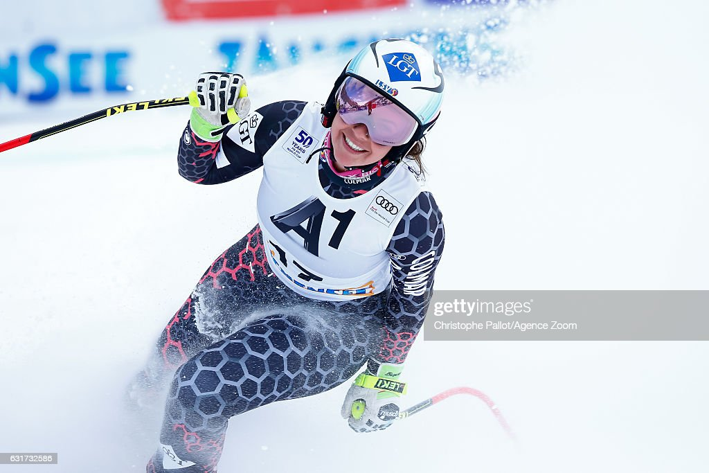 Tina Weirather of Liechtenstein takes 2nd place during the Audi FIS Alpine Ski World Cup Women's Downhill on January 15, 2017 in Altenmarkt/Zauchensee, Austria