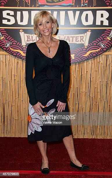 Tina Wesson attends CBS' Survivor Blood vs Water Season Finale at CBS Television City on December 15 2013 in Los Angeles California