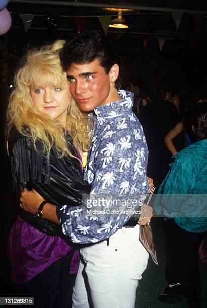 Tina Yothers and Brian Bloom dancing at production party for the television movie 'Crash Course' 1988