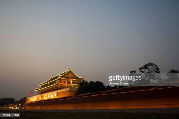 tinanmen gate - tiananmen square stock pictures, royalty-free photos & images