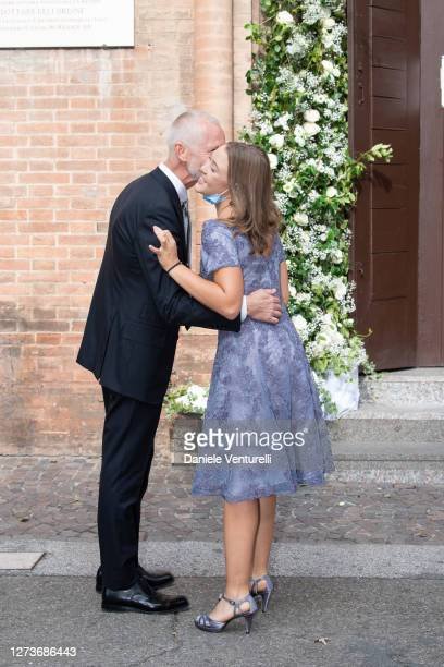 Tinarelli Wedding and Alice Pavarotti attends Nicoletta Mantovani And Alberto Tinarelli Wedding at Sant Antonio da Padova Basilic on September 20,...