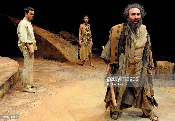 Tinarie van WykLoots as MirandaCharlie Keegan as Ferdinand and Antony Sher as Prospero in the joint Baxter Theatre/Royal Shakespeare Company...