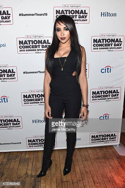 Tinashe arrives as Live Nation Celebrates National Concert Day At Their 2015 Summer Spotlight Event Presented By Hilton at Irving Plaza on May 5 2015...