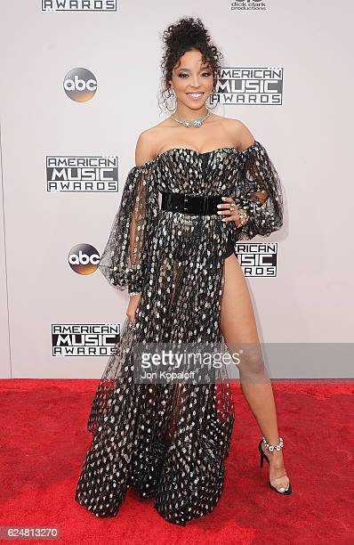 Tinashe arrives at the 2016 American Music Awards at Microsoft Theater on November 20 2016 in Los Angeles California