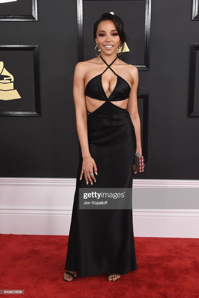 Tinashe arrives at the 59th GRAMMY Awards at the Staples Center on February 12, 2017 in Los Angeles, California.