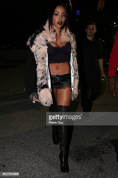 Tinashe attend the Alexander Wang Spring 2017 fashion show during New York Fashion Week September 2016 at Pier 94 on September 10 2016 in New York...