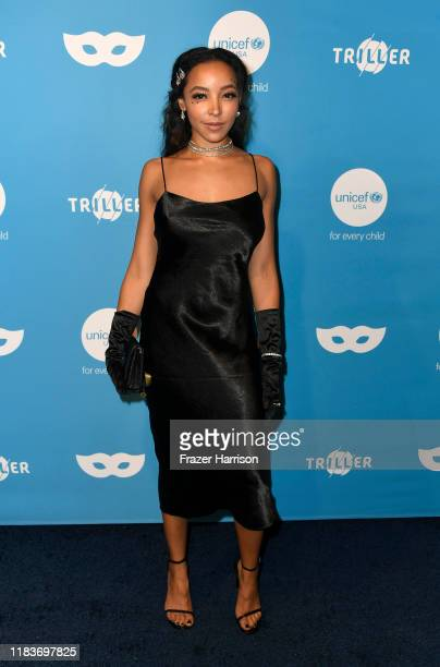 Tinashe attends the UNICEF Masquerade Ball at Kimpton La Peer Hotel on October 26, 2019 in West Hollywood, California.