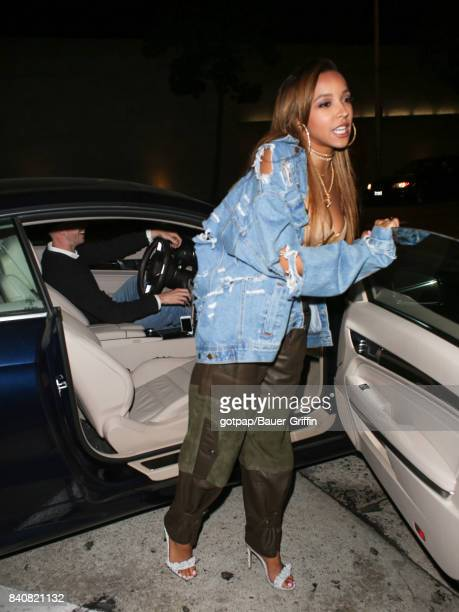 Tinashe is seen on August 29 2017 in Los Angeles California