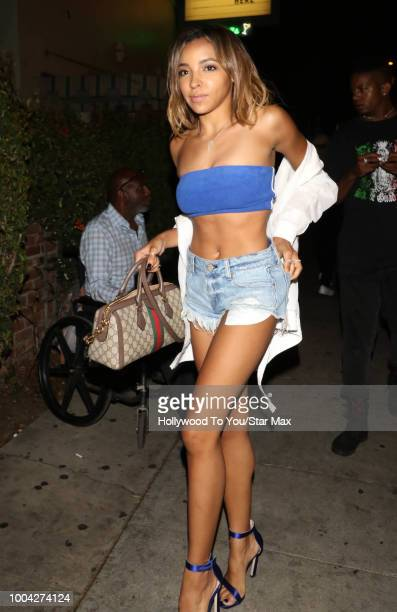 Tinashe is seen on July 22 2018 in Los Angeles CA