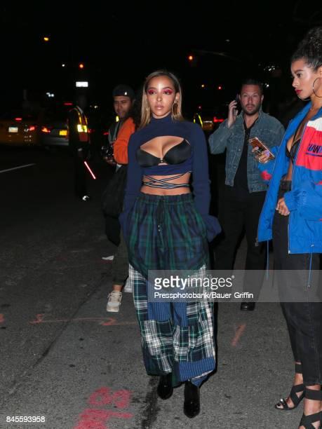 Tinashe Kachingwe is seen on September 10 2017 in New York City