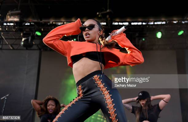 Tinashe performs at 2017 Billboard HOT 100 Music Festival at Northwell Health at Jones Beach Theater on August 19 2017 in Wantagh New York