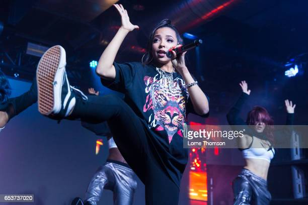 Tinashe performs at 800 Congress as part of Sony's 'Lost In Music' event on March 15 2017 in Austin Texas