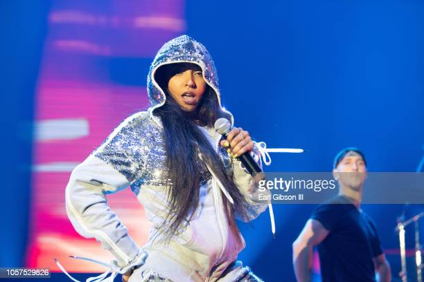 Tinashe performs at the 2018 Complex Con at Long Beach Convention Center on November 4 2018 in Long Beach California