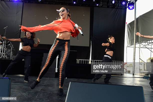Tinashe performs during Day One of 2017 Billboard Hot 100 Festival at Northwell Health at Jones Beach Theater on August 19 2017 in Wantagh City