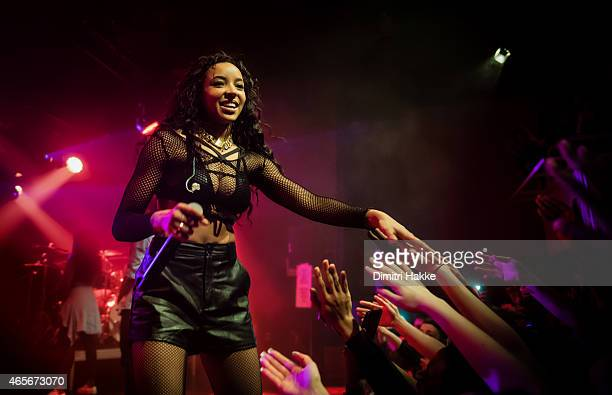 Tinashe performs on stage at Tolhuistuin on March 6 2015 in Amsterdam Netherlands