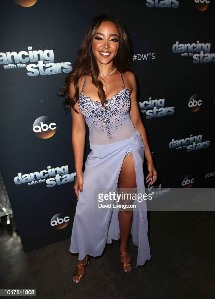 Tinashe poses at Dancing with the Stars Season 27 at CBS Televison City on October 8 2018 in Los Angeles California