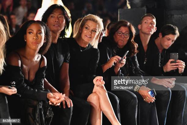 Tinashe Stephen Gan Yolanda Hadid Fern Mallis Stephen Wonderboy and Bonner Bolton attend Desigual fashion show during New York Fashion Week The Shows...